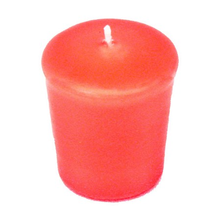 Coral Votive Candle - 15 hr, Unscented, Flared