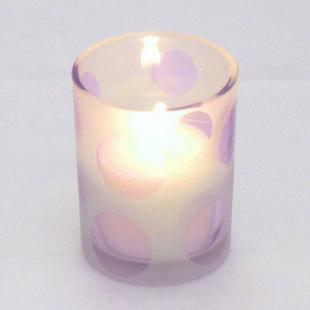 Cheerful Purple Dot Votive Candle Holder **CLEARANCE**