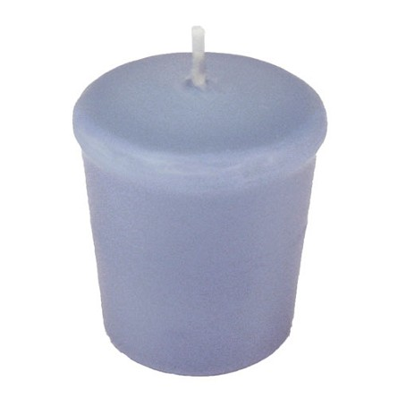 Periwinkle Blue Votive Candle - 15 hr, Unscented, Flared