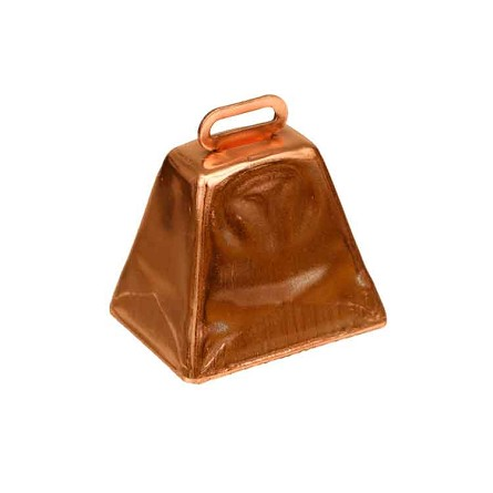 "1.75"" Copper Metal Cowbell (6)"