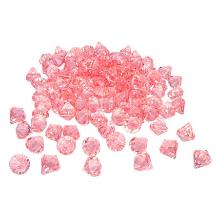 Pastel Pink Acrylic Diamonds Table Scatter (1 lb) - 2 sizes