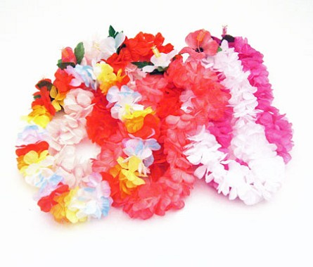 Childrens premium hawaiian silk flower leis luau party supplies childrens silk carnation hawaiian lei mightylinksfo