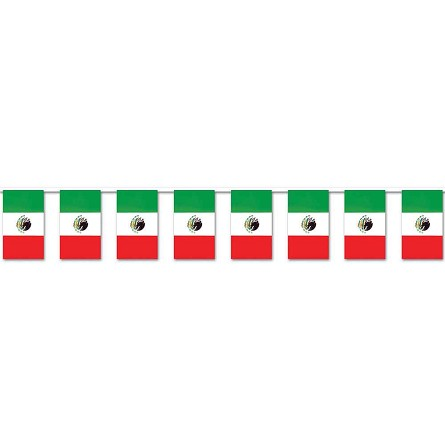 60-Foot Mexican Flag All-Weather Plastic Banner