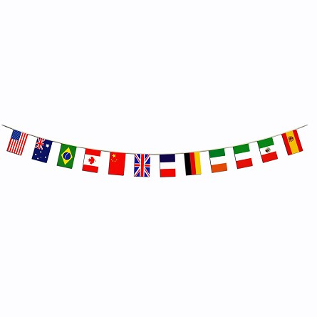 14-Foot International World Flag Border Banner