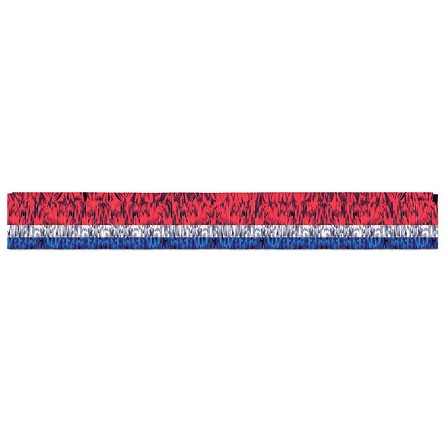 10-Foot Red, Blue & Silver Metallic Fringed Parade Float Drape