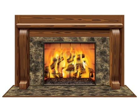 Instant View Fireplace Prop