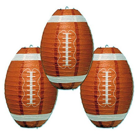 Football Paper Lanterns (3) **CLEARANCE**