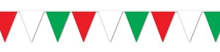 Red, White, & Green Pennant Banner