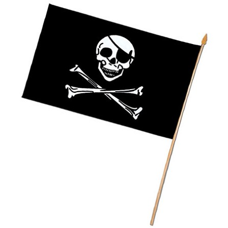"11"" x 18"" Rayon Jolly Roger Pirate Flag"