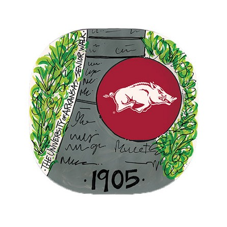 "10"" University of Arkansas Melamine Plate"