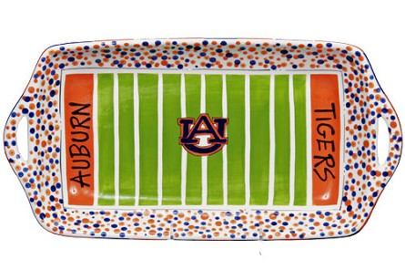 "16"" x 8"" Auburn University Ceramic Stadium Platter"