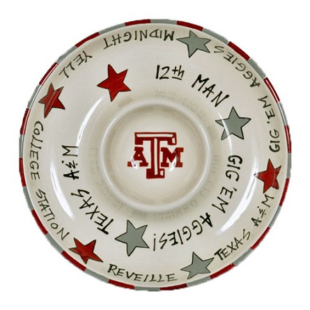 "12"" Texas A&M University Ceramic Circle Chip & Dip"
