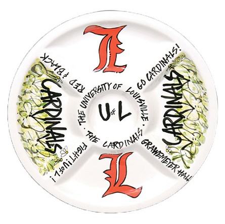 "14.5"" University of Louisville Ceramic Veggie Platter"