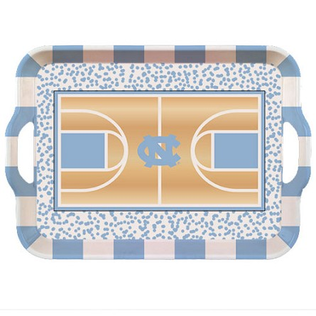 "15"" University of North Carolina Melamine Basketball Court Tray"