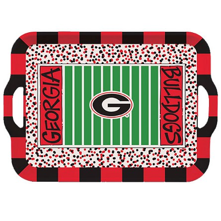 "15"" University of Georgia Melamine Stadium Tray"