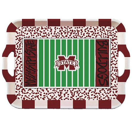 "15"" Mississippi State University Melamine Stadium Tray"