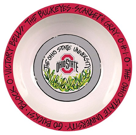 "12"" Ohio State University Melamine Serving Bowl"