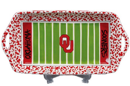 "16"" x 8"" University of Oklahoma Ceramic Stadium Platter"
