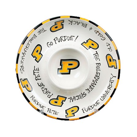 "12"" Purdue University Ceramic Circle Chip & Dip"