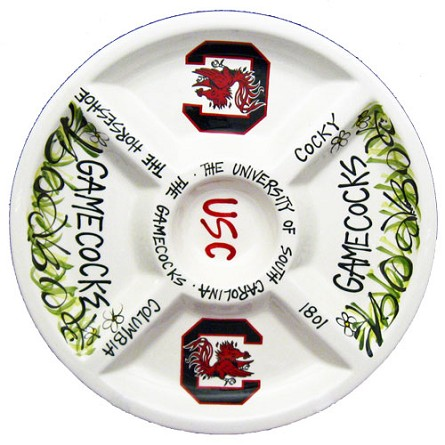 "14.5"" University of South Carolina Ceramic Veggie Platter"