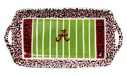 "16"" x 8"" University of Alabama Ceramic Stadium Platter"