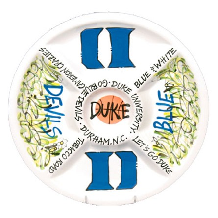 "14.5"" Duke University Ceramic Veggie Platter"