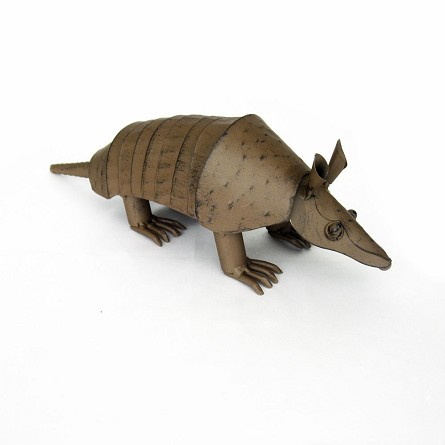 "13"" Metal Armadillo Centerpiece"
