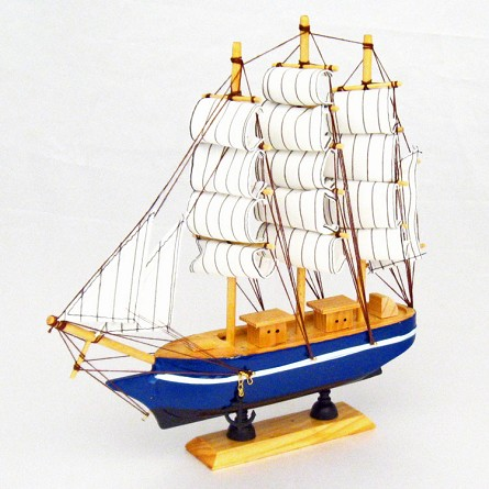 "11"" 3-Mast Mounted Wood Clipper Ship - 1 style **CLEARANCE**"