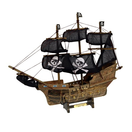 "13.5"" Queen Anne's Revenge Pirate Ship With Black Sails"