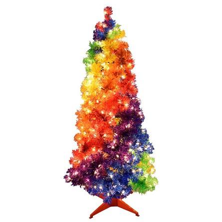 4 foot gay rainbow pride joy christmas tree