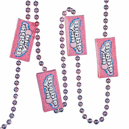6-Foot Iridescent Pink Beads & Bubble Yum Box Garland