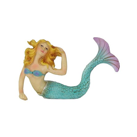 "4.75"" Colorful Mermaid Figurine Accent - 2 styles"