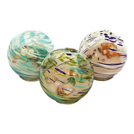 Sand & Shells Art Glass Sandglobe (1) - 3 colors