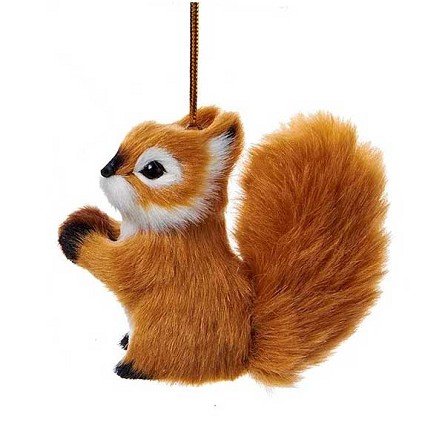 Furry Baby Squirrel Woodland Lodge Hanging Decoration