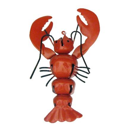 Red Lobster Jingle Bells Coastal Christmas Ornament - Red Lobster Jingle Bells Coastal Christmas Ornament Seaside