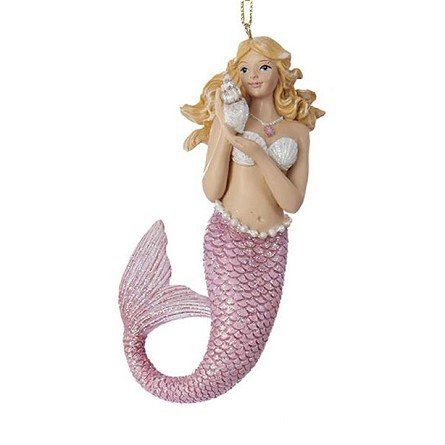 Mythological Mermaid Coastal Christmas Ornament (1) - 3 colors