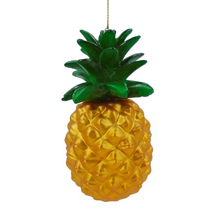Metallic Gold Pineapple Tropical Hanging Decoration