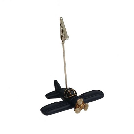 "3""  Propeller Plane Alligator Clip Card Holder (1)"