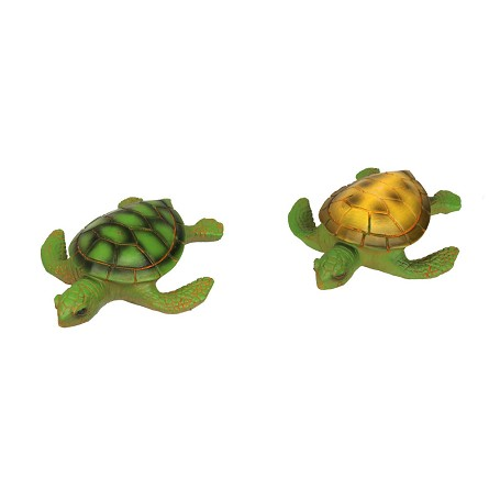 "5"" Resin Painted Sea Turtle - 2 colors"