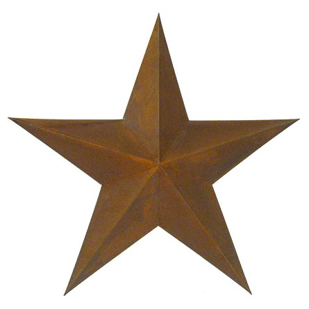 "24"" Rusty Tin 3-Dimensional Barnstar"