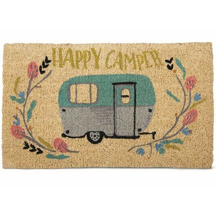 Happy Camper Welcome Mat Mountain Lodge Theme Camping