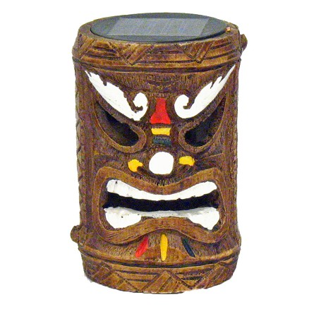 Tiki God Solar-Powered Accent Light & Post (1) - 3 styles